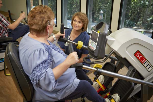 Patient on Cardio Machine by Window