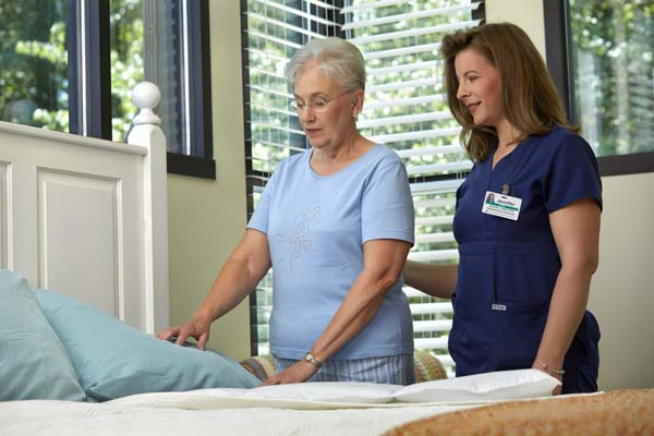 Patient in Therapy Bedroom