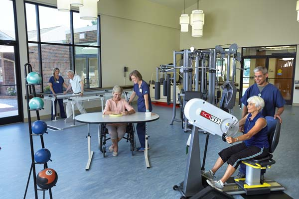 Patients in Extended Care Gym