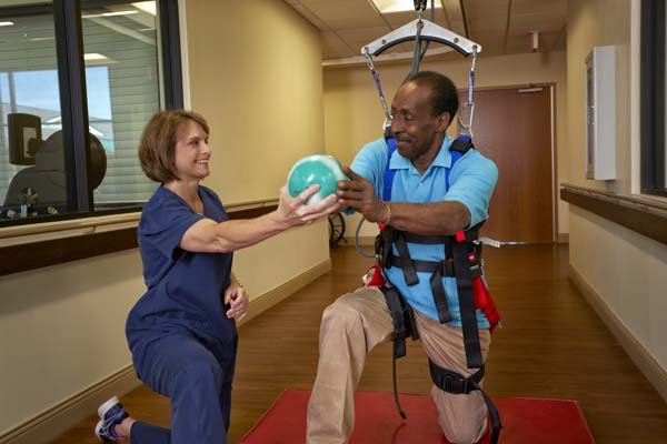 Patient Using Walking Harness